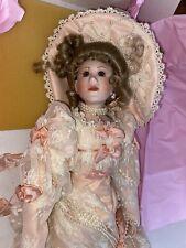 "Maryse Nicole Franklin Mint Heirloom Marguerite Doll porcelain 19"" Victorian"