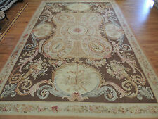 Gorgeous Oversize/Palace  French Aubusson Style Area Rug 12x17 Brown Beige