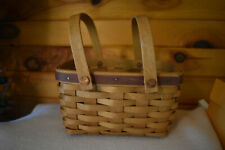 "LONGABERGE BASKET 2003 OBLONG  2  HANDLES 6 "" ACROSS 8"" LONG"