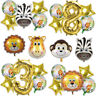 Animal Safari Birthday Balloons Gender Reveal Jungle Party Theme Decorations