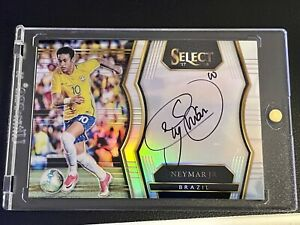 2017 select Neymar JR On Card Auto Silver Prizm Brazil!