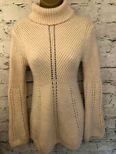 Karen Millen Cream Wool Chunky Polo Neck Jumper Size 2 UK 10 EU 38 US 6
