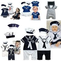 Baby Boy Girl Sailor Halloween Fancy Party Costume Outfit Clothes Set 00 0 1 2