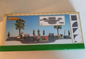 Lemax Christmas Village Plaza System (Grey Variety) - 32 Pcs - Landscape Accents
