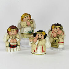 "Midwest of Cannon Falls MUSICAL ANGELS 2"" Figurine Set 4P Eddie Walker Christmas"