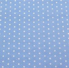 20 Servietten Mini Dots Punkte Tupfen hellblau Taufe  25 x 25 cm