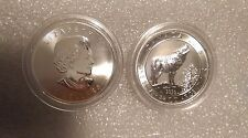 Canada $2 Grey Wolf Wild Life series 3/4oz,9999 Silver Mint condition in capsule