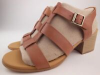 KORK-EASE Cornelia Brown Leather Ankle Strap Sandals Women's Size 8 M