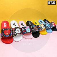 BTS BT21 Official Authentic Goods Pattern Slippers 220~260cm 7Characters + Track