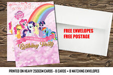 Birthday Party Invitation My Little Pony.My little pony party x8 Cards-Thick