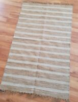 Cotton Jute Rug Hand Made Fair Trade Hand Loom Quality Indian Natural Mat Rugs