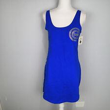 PINK-VICTORIA SECRET CHICAGO CUBS LOGO  BLING dress sleeveless L blue stretch