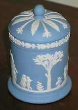 Wedgwood Blue Jasperware Lidded Tobacco/ Trinket Jar/Pot