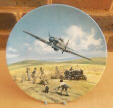 ROYAL DOULTON Heroes of the Sky Collector Plate - Hurricane Victory Pass