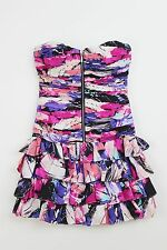Forever New cotton/silk strapless mini dress wth zip front - NWOT - 6