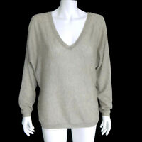 FEEL THE PIECE 100% Cashmere Gray Featherweight V-Neck Sweater size OS /7166