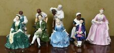 Compete Set 9 of Royal Doulton Williamsburg Figurines Includes Royal Cook