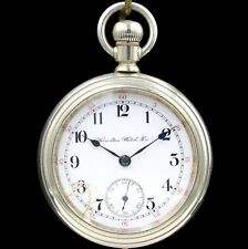 Pocket Watch Grade 924 Heavy 18s Antique New listing Big 1904 Hamilton 17 Jewel Rr Style
