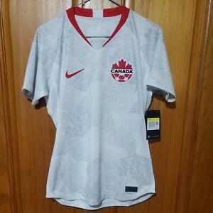 Nike Team Canada 2020/21 Away Stadium Womens Soccer Jersey CU3743-100 Size Small