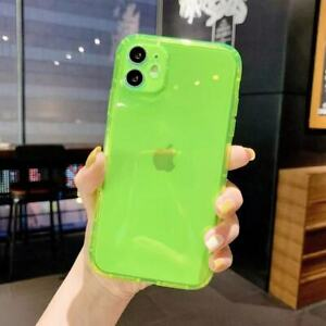 For iPhone 13 12 11 Pro XR XS Max 8 7 Laser Glitter Fluorescent TPU Case Cover