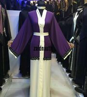 Mujer Frente Abierto Abaya.dress. Saudi Abaya Japonés Neda.new Novedad