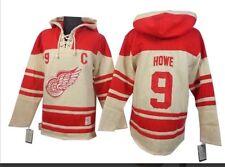 Gordie Howe Detroit Red Wings NHL Jersey Hoodie XL Sweatshirt Sweater NWT