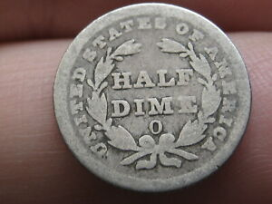 1838 O Seated Liberty Half Dime- Good Details