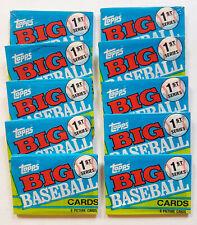 VINTAGE 10 PCS SEALED PACKS 1990 TOPPS BIG SERIES 1 BASEBALL CARDS
