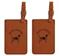 L1809 Bluetick Coonhound Luggage Tags 2Pk Free Shipping 20 Breeds Available