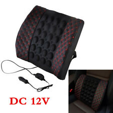 12V Car Home Office Lumbar Seat Pillow Back Support Rest Electric Massage Pads