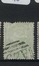 """Malta GB Used Abroad SG Z51 Plate 15 """"bite"""" At Top FU (5drs)"""