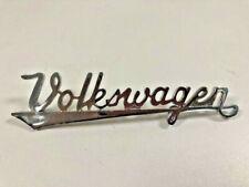 VW BUG VINTAGE EMBLEM REAR HOOD Nameplate Stainless steel T1 Script Written Logo