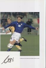 ITALY HAND SIGNED FRANCESCO TOTTI 12X8 PHOTO AND INDEX CARD.
