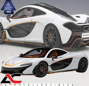 AUTOART 76064 1:18 McLAREN P1 (ALASKAN DIAMOND WHITE/BLACK ACCENT) SUPERCAR