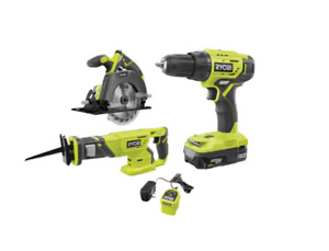 NEW Ryobi 3-Tool Combo Kit Circular Saw, Drill/Driver, Rec. Saw&Battery Charger