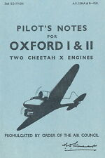 AIRSPEED OXFORD, AVRO ANSON and PILOT'S NOTES GENERAL