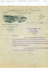 Dépt 37 - Joué lès Tours - Belle Entête Etablissements de Touraine du 15/06/1927