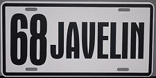1968 68 JAVELIN METAL LICENSE PLATE AMERICAN MOTORS AMC AMX 390
