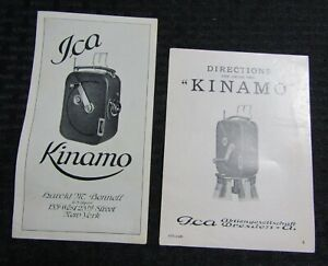 Vintage ICA KINAMO Camera Booklets 10pgs FN 6.0 Directions