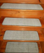 "13  Step  9"" x 30"" Stair Treads 100% Wool  Carpet"