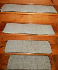 "14  Step  9"" x 30"" + 1 Landing 26"" x 30"" Stair Treads 100% Wool  Carpet"