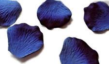 100 ROYAL BLUE TWO TONE QUALITY SILK ROSE PETALS/ CONFETTI/WEDDING table