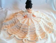 """New listing White 28"""" Hand Crocheted Doll Bed Pillow"""