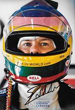 Jacques Villeneuve SIGNED 12x8  Helmet Portrait 2008