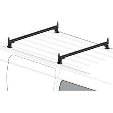 2 Bar Black Aluminum Ladder Roof Rack System AMZ-145 Fits: Chevy City Express