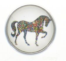 18mm Snap Charms Buttons Interchangeable Jewelry Paisley Horse