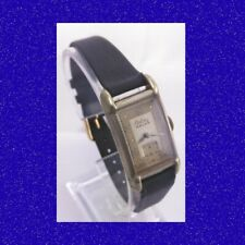 Stunning Steel Art Deco Certina Nacar Gents Flared Lugs Wrist Watch 1958