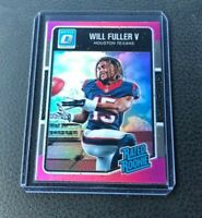 Will Fuller V 2016 Donruss Optic Rated Rookie Pink Prizm Refractor