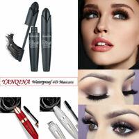 4D Silk Fiber Volume Eyelash BLACK Mascara Extension Makeup Waterproof Big Eyes
