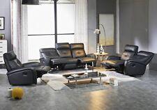 Voll-Leder TV-Sofa Schlafsofa Relaxsessel Fernsehsessel 5130-3+2+1-S